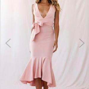 Brand NWT! New Sorry Not Sorry Dress - Blush (S)